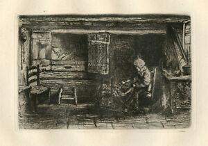 Jozef Israels original etching