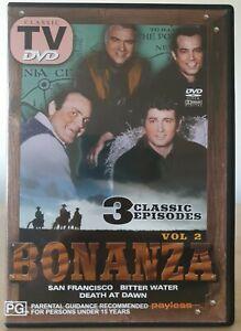 Bonanza - Vol 2  DVD (3 Classic Episodes) All Regions