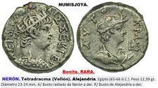 NERÓN año 65-66 d.C. Tetradracma (Vellón) Alejandría. Peso 12,39 gr. 23/24 mm.