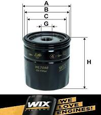 NEW Genuine WIX Replacement Oil Filter WL7098 Equiv W 712	PH966B OC 21