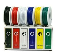 26 AWG 1007 Hook Up Wire Kit 26 Gauge 6 Colors 32.8 Feet Each Electrical Wire