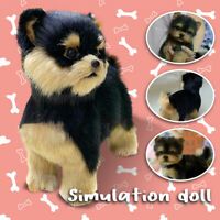 Simulation Toy Dog Realistic Yorkie Dog Puppy Lifelike Plush Toy Pet Companion