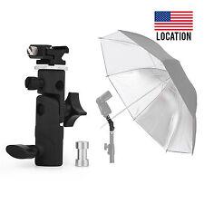 E Type Metal Flash Bracket Umbrella Holder Hot Shoe Stand Mount for Yongnuo US