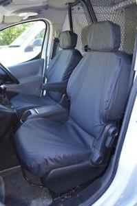 Black Tailored Waterproof Seat Covers Front 2 for Citroen Berlingo Van 2008-2018