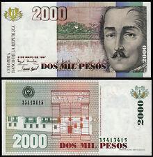 COLOMBIA 2000 PESOS (P445b) 1997 UNC