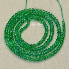 2.4mm-4mm Finest Zambian EMERALD Smooth Rondelle Beads 15 inch strand