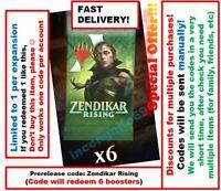 MAGIC MTG Arena Code 6 Boosters Packs Zendikar Rising Prerelease SPECIAL OFFER