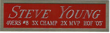 STEVE YOUNG 49ERS NAMEPLATE FOR AUTOGRAPHED Signed Helmet Football JERSEY PHOTO