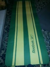 "Reebok vintage yoga / camping mat yellow green approx 7 ft x 2.5 ft x 1/2 "" kool"