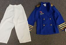 NWT! DISNEY Cruise Line Captain MICKEY MOUSE Fancy Dress COSTUME S 6/6X