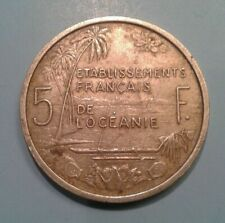 New ListingFrench Oceania 5 Frank coin 1952