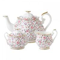 Royal Albert Rose Confetti 3 Piece Tea Set