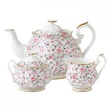New Royal Albert Rose Confetti 3 Piece Tea Set