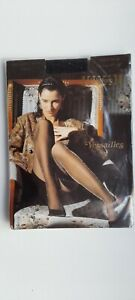 WOLFORD VERSAILLES vintage tights L large BLACK & GOLD 30 den statement party