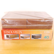 NEW Stackables AV Storage Cabinet ~ 40 Audio Cassettes or 18 VHS Tapes or 56 CDs