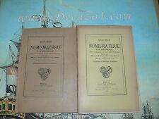 Revue Belge de Numismatique 1924 2 V.1/2+3/4 livraisons. Original Edition! Rare!