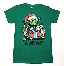 Star Wars - Yoda - May The Gifts Be With You - Men's Medium Green T-Shirt