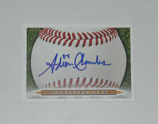 ADRON CHAMBERS SIGNED AUTO'D SIGNATURE CARD ST LOUIS CARDINALS MLB DEBUT 2011 RC