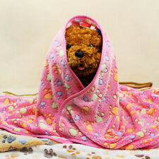 FP- Pet Blanket Dog Cat Mat Puppy Soft Cushion Warm Bed Paw Print Kennel Washabl