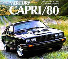 1980 MERCURY CAPRI FACTORY BROCHURE -CAPRI GHIA-CAPRI RS TURBO