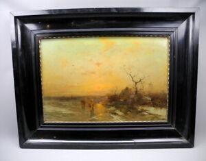 Bach bei Abenddämmerung, Gemälde, Öl / Leinwand, 46x66,5
