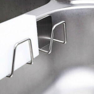 2 Pack Adhesive Sponge Holder Sink Caddy for Kitchen Accessories Stainless Steel