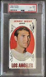 1969 Topps, #90, HOF Jerry West, Los Angeles Lakers PSA 6 EX-MT