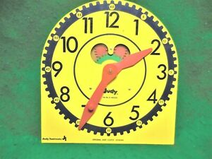 "Large Original Vintage ""JUDY CLOCK"". Judy/Instructo Teaching Clock. J209040"