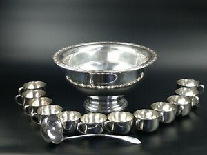 Oneida Silver Plated Punch Bowl Set