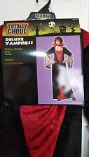 New Womens Totally Ghoul Deluxe Vampiress Halloween Costume One Size Fit Most