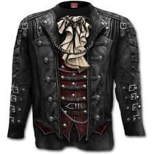 Spiral Men Goth Wrap Allover Longsleeve T Shirt Black XX Large