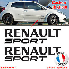 2 Stickers Renault Sport - Autocollants Decals RS GT Clio Mégane Twingo - 081
