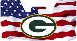 Custom Green Bay Packers USA Flag Football Helmet Visor, W/ Unbranded Clips