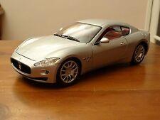 1/18 Maserati Gran Tourismo 4.7S Coupe Rare Silver with Red Hide