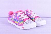 Youth Girl's Skechers Twinkle Groove Hook and Loop Sneakers, Pink / Multi
