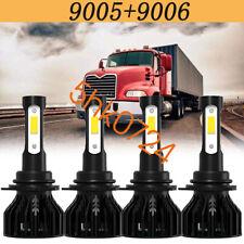 4-Side LED Headlight Bulbs Upgrade Kit For MACK Vision CX CXN CV Truck 1998-2015
