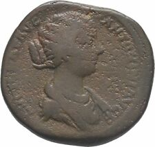 Ancient Rome AD 163-4 LUCILLA Large SESTERTIUS Juno