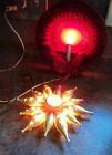 2 Vintage Christmas electric candle light celophane wreath; Silvestry star light