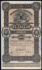 VENEZUELA: CIA Minera Nacional Anonima El Callao, 125 Bolivar part, 1887, Wa...