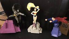 KRAFT 1998 MAIL AWAY DC Comics ANIMATED Lot of 3 SUPERMAN BATMAN WONDER WOMAN