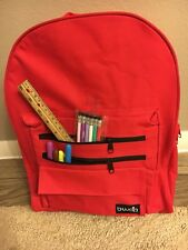 New B-WAP Backpack In red Canvas Large