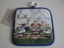 "Stevens Linen ""Barbeque Guys"" Potholder"