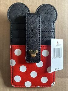 Disney Parks Minnie Mouse Dot Bow Credit Card ID Holder Wallet New Disneyland