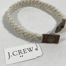 J.Crew Men's Wax Thread  Bracelet With snap Closure. Ivory. One size.Nwt