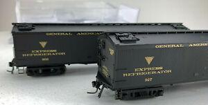 "HO BLI GARE GACX 53'6"" Wood Express Refer 2 Car Set 1854 NIB! MK192"