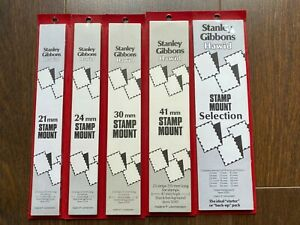 Unopened Stanley Gibbons Hawid Mounts Various Sizes
