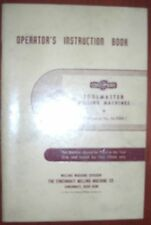 Cincinnati Toolmaster Operator's Book