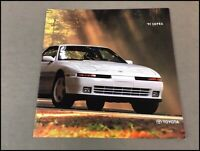 1991 Toyota Supra and Turbo 18-page Factory Dealer Car Sales Brochure Catalog