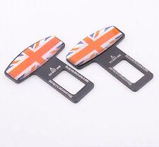 2pcs England Britain UK Seat Belt Buckle Safety Alarm Clasp Stopper Eliminator