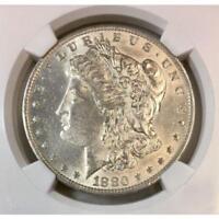 1880 O Morgan Dollar VAM-48 Hangnail NGC AU58 #000898